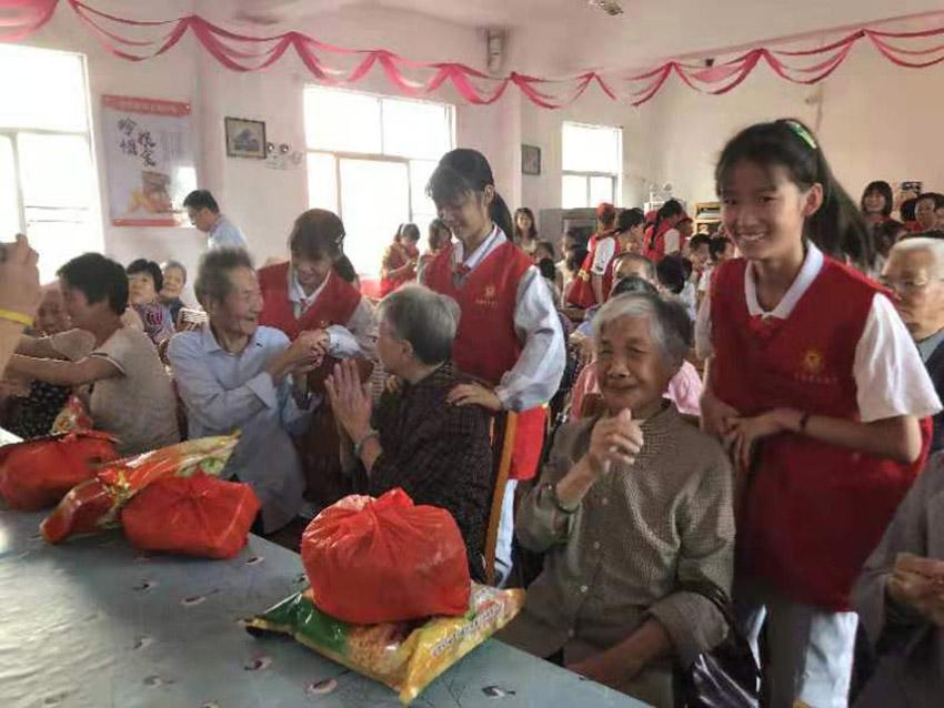 """福建一社区举办""""爱在重阳,情暖社区""""活动"""