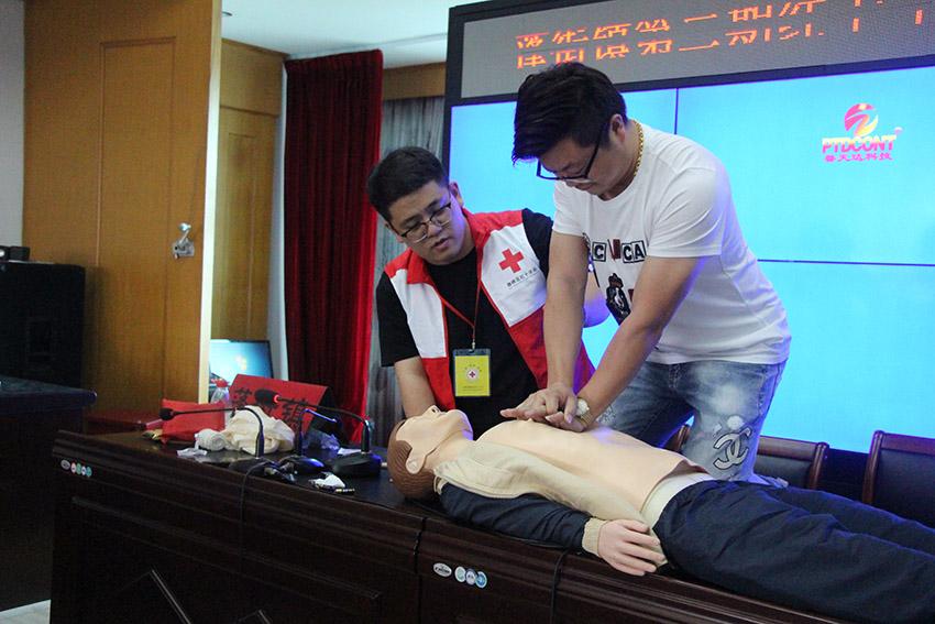 """浙江台州举办""""蓬街镇红十字救护员""""培训"""